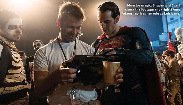 Supes on set