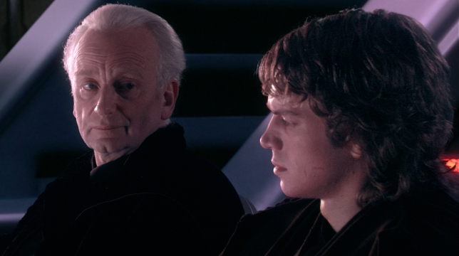 Palpatine talking to Anakin about Plagueis