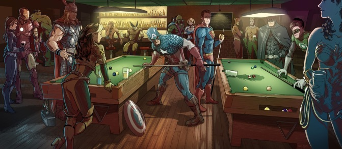 DC and Marvel billiards