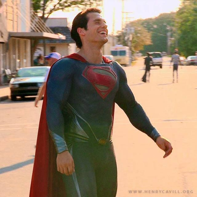 Superman laughing